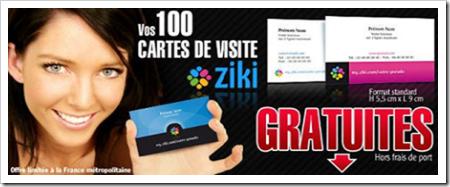 cartes visites ziki